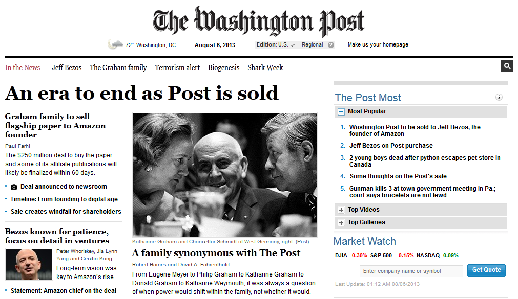 Pantallazo del Washington Post